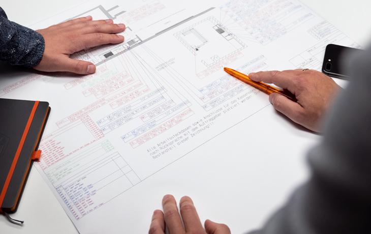 Küche Installationsplan