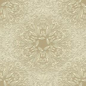 """Papstar Serviette """"Rosette"""", 1/4 Falz, Gold-Weiß"""