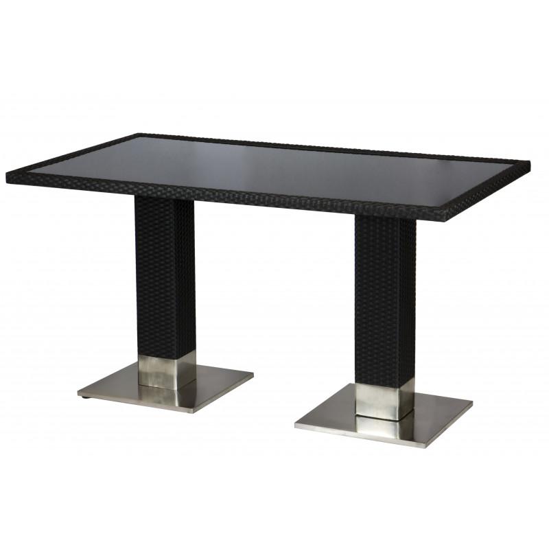 bartisch largo 140 x 80 mit glasplatte mocca online shop gastro hero. Black Bedroom Furniture Sets. Home Design Ideas