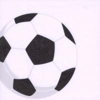 """Papstar Serviette 33x33, 3lagig, 1/4-Falz """"Fußball"""" - 50 Stück"""