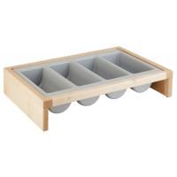 APS Besteckbehälter -BRIDGE- Set Ahorn, 57,5 x 37 cm, H: 12 cm