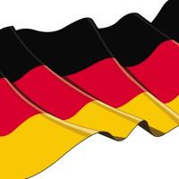 """Papstar Serviette 33x33, 3lagig, 1/4-Falz """"Deutschland"""" - 50 Stück"""