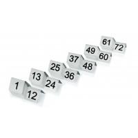 Tischnummernschild im Satz (13-24), Breite 5cm, Höhe 4cm