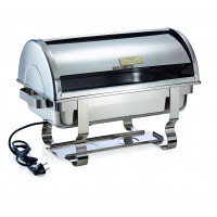 Chafing Dish 1/1 GN, Edelstahl, mit Roll-Top Deckel