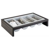 APS Besteckbehälter -BRIDGE- Set Wenge, 57,5 x 37 cm, H: 12 cm