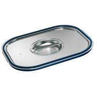 Blanco Edelstahl GN-Deckel GN 2/3 mit Formschlussdichtung, für Gastronorm-Behälter mit Bügelgriffen