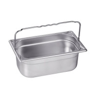 Blanco Edelstahl Gastronorm-Behälter GN 1/4 mit Bügelgriffen - 65 mm, Inhalt: 1,7 Liter