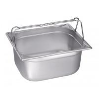 Blanco Edelstahl Gastronorm-Behälter GN 2/3-100 mit Bügelgriffen - 100 mm, Inhalt: 8,5 Liter