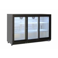 Barkühlschrank ECO 320 Liter mit Schiebetüren schwarz - B-Ware 01