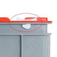 Schiebeverschluss für Scharnierdeckel - Euro-Stapelbehälter | Lager & Transport/Lagerausstattung/Lager- & Transportbehälter