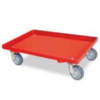 Transportroller geschlossene Deckfläche rot