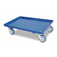 Transportroller geschlossene Deckfläche blau