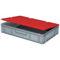 Scharnierdeckel für Euro-Stapelbehälter - rot | Lager & Transport/Lagerausstattung/Lager- & Transportbehälter