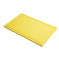 Schneidebrett mit Saftrille Gastro-M GN1/2 gelb