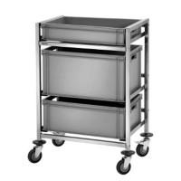 Kisten-Abräumwagen für Euronorm-Kisten | Lager & Transport/Servier- & Transportwagen/Regalwagen