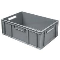 Euro-Stapelbehälter 600x400 mm, grau - 220 mm | Lager & Transport/Lagerausstattung/Lager- & Transportbehälter