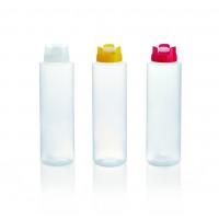 Quetschflasche mit Silikonventil, 0,35 Liter, weiß