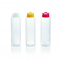 Quetschflasche mit Silikonventil, 0,7 Liter, weiß