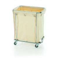 Wäschesammelwagen mit großem Wäschesack, 65x45x84cm
