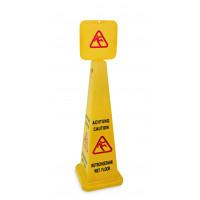Aufsteller - Pyramide, Achtung Rutschgefahr - Caution Wet Floor