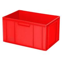 Euro-Stapelbehälter 600x400 mm, 2 Griffleisten, rot - 320 mm | Lager & Transport/Lagerausstattung/Lager- & Transportbehälter