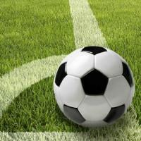 "Serviette 33x33, 3lagig, 1/4-Falz ""Fußball Wiese"" - 50 Stück"