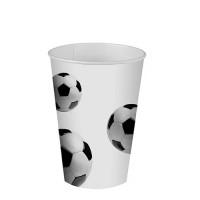 """Trinkbecher, Pappe, 0,2L, Ø 7cm, """"Fußball"""" - 10 Stück"""