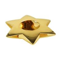 """Papstar Kerzenhalter """"Star"""", Ø 110 mm , gold"""
