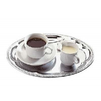 Serviertablett -Kaffeehaus-  ca. 30 x 22 cm, oval