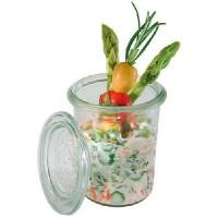 Gläser m. Deckel Mini-Sturz-Form 160 ml