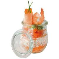 Glas mit Deckel Mini-Sturz-Form 220 ml, Tulpe