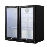 Barkühlschrank ECO 208 Liter mit Klapptüren schwarz