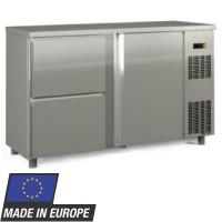 Barkühltisch PROFI 1/2 - Edelstahl Schubladenmaße