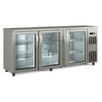 Barkühltisch PROFI 3/0 - mit Glastüren - Edelstahl   Kühltechnik/Kühltische/Barkühltische