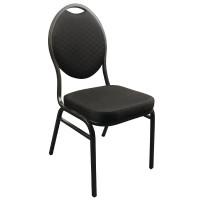 Bankettstühle Bolero mit ovaler Lehne, schwarz 4 Stück