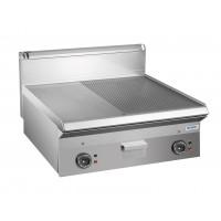 Elektrogrillplatte Dexion Serie 65 - 100/65 - 1/2 glatt, 1/2 gerillt - Tischgerät