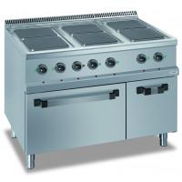 Elektroherd Dexion Serie 77 - 110/70 mit Elektrobackofen - quadratische Kochfelder