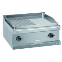 Gasgrillplatte Dexion Serie 77 - 70/70 ½ glatt, ½ gerillt, verchromt - Tischgerät