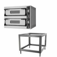 Pizzaofen PROFI 4+4x36cm inklusive Untergestell