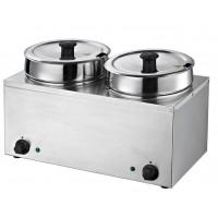 Suppenstation Eco 2x3,5 Liter, Edelstahl