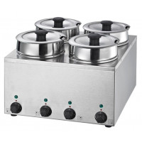 Suppenstation Eco 4x3,5 Liter, Edelstahl