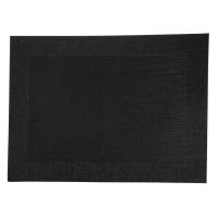 PVC gewebtes Tischset schwarz