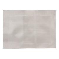 PVC gewebtes Tischset silber