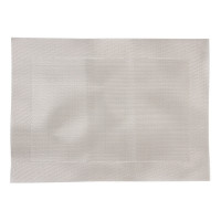 Olympia PVC gewebtes Tischset silber