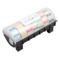 Kunststoffspender mit Wochenset entfernbare Etiketten