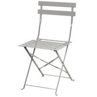 Stahlstühle Bolero grau klappbar 2 Stück