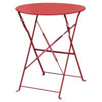 Stahltisch Bolero rund rot, klappbar