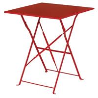 Stahltisch Bolero viereckig rot, klappbar