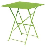 Stahltisch Bolero viereckig hellgrün, klappbar