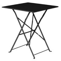 Stahltisch Bolero viereckig schwarz, klappbar